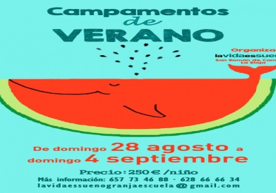 Campamento última semana de agosto en LavidaesSueño en San Román de Cameros