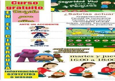 Curso de seguridad vial y primeros auxilios para niños en San Román de Cameros